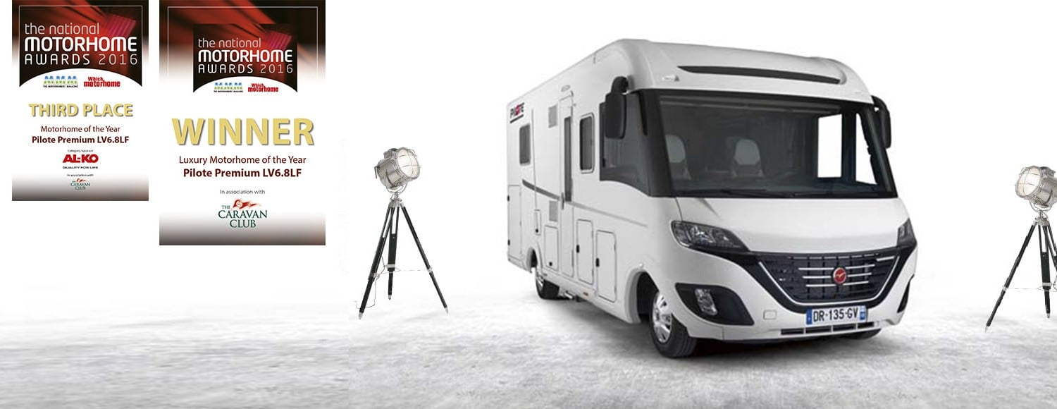 Zwycięzki Pilote na targach The National Motorhome Awards 2016